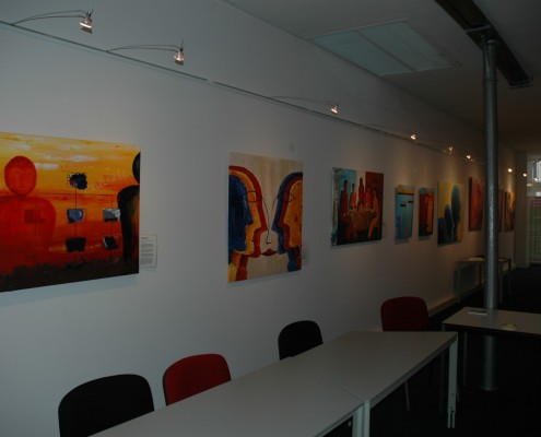 Business exposisie en schilderen voor directeuren
