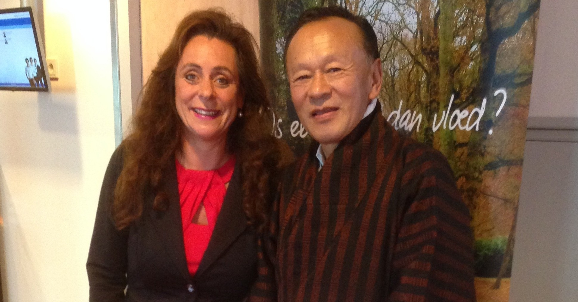 Bertine met Jigmi Y. Thinley (voormalig premier van Bhutan)