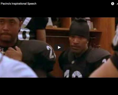 Al Pacino's Inspirational Speech